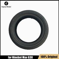 Pièces de pneu de pneus avant originales pour Ninebot Max G30 KickCooter Smart Scooter Smart Electric Scooter 10 pouces Tire de roue avant