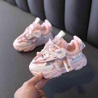 Dimi 2021 الربيع / الخريف طفلة الأولاد الرياضة الأزياء تنفس لينة أسفل طفل أحذية رياضية 0-3 سنة الرضع أحذية طفل