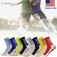 Мужчины противоскользящие футбольные носки спортивные длинные носки абсорбирующие спортивные носки для баскетбола футбол волейбол бегущий BT09