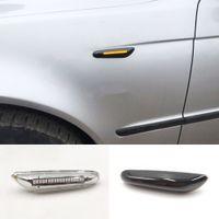 2pcs 12v 자동차 턴 신호 조명 측면 마커 램프 BMW E90 E91 E92 E60 E87 E46에 대한 스트로브 표시기 액세서리 LED