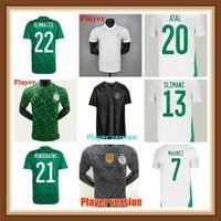 Oyuncu Hayranları Sürüm 2021 2022 Cezayir Futbol Formaları Mahrez Argelia 21 22 Cezayir Afrika Kupası ATAL Feghouli Slimani Erkekler Kiti Eğitim Futbol Gömlek Maillot De Ayak