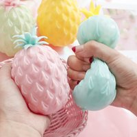 pineapple Anti Stress Grape Ball Funny Gadget Vent Decompression Toys Autism Mood Relief Hand Wrist Squeeze Kid Toy 4 colors