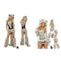 Sexy Leopard Print Fury Disfraz Halloween Cat / Wolf / Leopard Nightclub Club Cos Catwomen Party Party Dress Vestido de Navidad Regalo