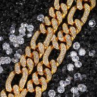 OUT OUT CUBAN LINK CHEIS MENS Золотые цепи Ожерелье Браслет Мода Хип Хоп Ювелирные Изделия