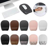 마우스 패드 손목 rests 1pc 소프트 PU 가죽 패드 스폰지 비 슬립 편안한 휴식 핸드 지원 두꺼운 마우스 매트 홈 오피스 용품