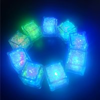 야간 조명 LED 아이스 큐브 바 빠른 느린 플래시 자동 변경 크리스탈 큐브 물 - 활성화 된 조명 7 색 낭만적 인 파티 웨딩 크리스마스 선물