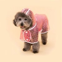 Dog Apparel Raincoat Pet Waterproof Clothing Outdoor Jacket Transparent Clothes For Puppy Casual