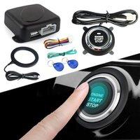 Pads de refroidissement pour ordinateur portable Système d'alarme Smart de voiture 12V Poussez le moteur de démarrage Bouton d'arrêt Lock Verrouiller l'immobilisation d'allumage avec Dropship à distance