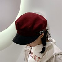 Woolen Octagonal Hats For Women Casual Winter Autumn Hat Ladies Fashion Boinas Beret Cap Feminal Newsboy Gatsby Caps