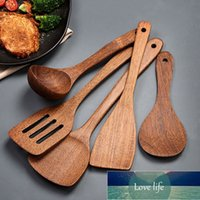Cooking Utensils Wooden Kitchenware set Long handle Spatula Rice Scoop Vegetable meat shovel Mixing Spoons for Nonstick pan kitchen tools