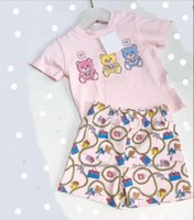 Infant Baby Clothes Sets Toddler Summer Short Sleeve Print Girls Boy T Shirts Tops + Shorts Pants Designers Kids Suits