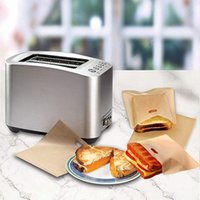 비 스틱 토스터 가방 재사용 및 내열 빵 샌드위치 가방 PTFE 코팅 유리 섬유 전자 레인지 가열 과자 도구