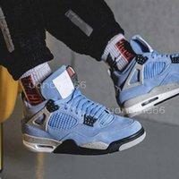 air jordan jordans jordon jordons aj En Kaliteli 4 Yayın Erkekler Basketbol Ayakkabı 4 S SE Üniversitesi Mavi Jumpman Moda Eğitmenler Lüks Tasarımcı Sneaker Boyutu 40-46