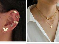 Collana a farfalla Earlip Suit Borchie per orecchie orecchie orecchini in lega di gioielli femminili