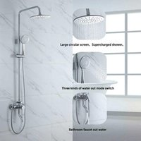 Bathroom Shower Sets RUYAGE Faucet And Cold Mixer Brass Bathtub System RY16