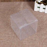 Regalo Wrap 25pcs 4x4x4cm Cancella scatola di imballaggio in PVC trasparente Candy Apple per la festa di nozze