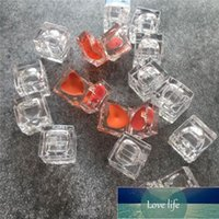 10pcs 1g Clear Mini Square Lipstick Cosmetic Container Empty Eyeshadow Pot Plastic Heart Shape Small Lip Rouge Case Box Storage Bottles & Ja Factory price expert
