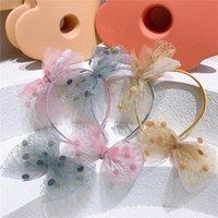 الكورية الحلو فتاة الأميرة هيرباند اكسسوارات للشعر لطيف الأطفال جميلة الأزياء غزل الكرة القوس دبابيس
