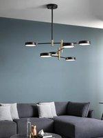 Простая персональность Creative Design LED подвесные лампы Nordic Home Use Colen Hall Hall вращающиеся формы огни