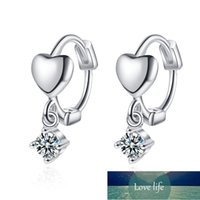 New 925 Sterling Silver Earrings With Zircon Heart-Shaped Earrings Sweet Design For Girls Birthday Party Gift