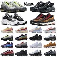 Neon 95 ماكس الاحذية الرجال النساء 95 ثانية الثلاثي أسود أبيض فولت دخان الظلام رمادي الليزر الفوشيه الجشع جشع رجل المدربين الرياضة أحذية رياضية