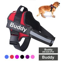 Personalized Dog Harness NO PULL Reflective Breathable Adjustable Pet Vest With Name For Dogs Custom Patch Supplies Collars & Leashes