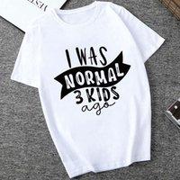 정상적인 3 명의 아이 편지가 티셔츠 여성의 옷을 인쇄 한 티셔츠 엄마 아내의 여성용 Sheamist Slogan Tee Tops