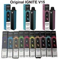 100% Original Ignite V15 Disable E Cigarros 1500 Puffs Vape Pen 5.1ml PODs Pre-Cheios Cartuchos Vaporizadores 850mAh Bateria Vapor Barra Mais XXL Flow Kang Bang Delta 8