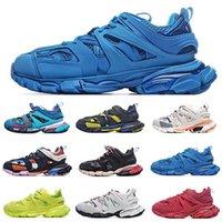 [مع حقيبة الغبار + مربع] أعلى جودة المسار تفضيلية 30 أحذية عارضة gomma maille tess s paris triple حذاء نسائي الرجال الرياضة المدربين القدامى الأزرق الوردي الأصفر الأبيض