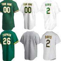 Baseball Oakland Jerseys 2 Khrison Davis 23 Jurickson Profar 10 Marcus Semien 22 Ramon Laureano 35 Aaron Brooks 26 Matt Chapman