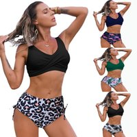 Youth Girl Swimming Two Piece Tall Waist Swimsuit Summer Beach Sexy Female Bikini Swimwear Lady Biquini Bathing Suit Women Bandage Swim Beachwear