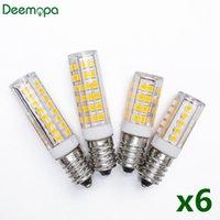 6pcs lot E14 LED Lamp 3W 4W 5W 7W 220V 240V LED Corn Bulb 33 51 75 SMD2835 360 Beam Ceramic Mini Chandelier Lights