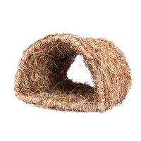 Маленькие припасы животных травяной дом туннель туннель коплежатную хижину для укладки или спящего съемок жевать домашние кролики шиншиллы и животные
