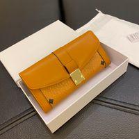 Bolsas de moda de mujer clásica bolsas de moda para bolsas de diseño Carteras Carta de impresión Larga Tres plegas Bolso Monedero Monedero 4 colores