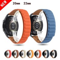 Watch Bands 20mm 22mm Strap For Samsung Galaxy 3 46mm42mm Silicone Magnetic Band Active 2 Bracelet Huawei GT