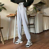 Women's Pants & Capris Black Gray Harem High Waist Sports Girl Trousers Women Elastic Long Sweatpants Female Plus Size