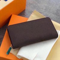 مصممون أكياس الفمو المحافظ الرجال النساء المحفظة الكلاسيكية النقش حقائب اليد ماركة حقائب أزياء حاملي محافظ مع مربع