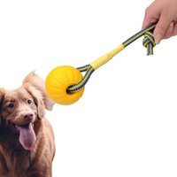 Dog Toys & Chews 7 9CM Pet Training Toy Ball Indestructible Solid Rubber Balls Chew Play Fetch Bite With Carrier Rope Resistant