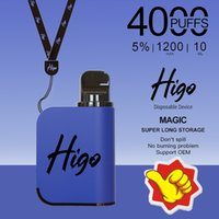 Australia Top Selling Mesh Coil 4000puffs Higo-Magic Electronic Cigarette Disposable Vape 1200mAh Battery 10ml E-liquid Pods