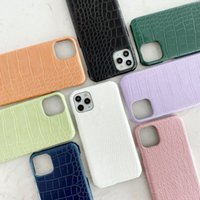 Fashion Leather Phone Cases for IPhone 12 11 Pro Max XR XSMAX X XS 7P 8P7 8  High Quality Designers Crocodile pattern Cover case 8-Color