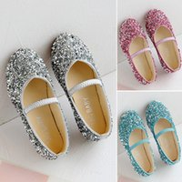 Flat Shoes Children's Fashion For Girls Kids Doll Children Dress With Rhinestone Crystal Flats Pearls Princess Wedding Party