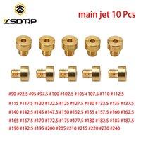 10 stks / set Carburateur Main Jet Thread voor HSR40 HSR42 TM36 VM16 VM29 Injector Nozzle Maat 90-240 Kit Motorfiets Brandstof Systeem