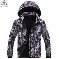 Camouflage Tactical Jacket Mens Softshell impermeabile a vento a vento invernale in pile fodera da caccia vestiti con cappuccio cappotto uomo1