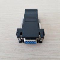 Connecteurs de câbles informatiques 15Pin VGA SVGA D-SUBD HDB15 Femme to RJ-45 RJ45 Convertisseur Adaptateur Extender pour CAT5 CAT6 Extension Ethernet Cabine