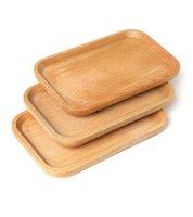 나무 판자 접시 사각형 과일 플래터 접시 디저트 비스킷 플레이트 접시 차 서버 트레이 나무 컵 홀더 그릇 패드 식기 매트 HHE8915