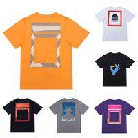 2021 Moda T Shirts Camisetas Impresión Tops Diseñador de algodón Manga corta Parejas de Black White Mens Top T-Shirt Casual