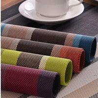 Newinsulation Placemats Lavável Café Dinando Tabela Calor PVC Tapetes Resistente ao Calor TableMats Mat Anti-Slip EWF7630
