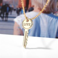 Arrival Fashion Necklace Women Girl Creative Simple Love Key Metal Pendant Statement Gold Color Accessories Chains