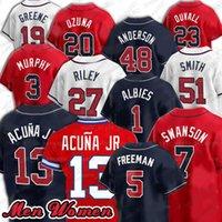 2021 NUEVO 5 FREDDIE FREEMAN 7 DANSBY SWANSON MARCELL OZUNA Jersey de béisbol 13 Ronald Acuna Jr. 1 Ozzie Albes Mike Soroka Jerseys