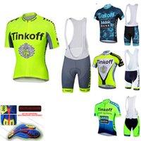 Tute da uomo Tinkoff Men Pro Cycling Abbigliamento Kit Strada Sale da corsa Bike Suita Completa Bicycle Uniform Dress Indossare MTB Jersey Set Ciclismo